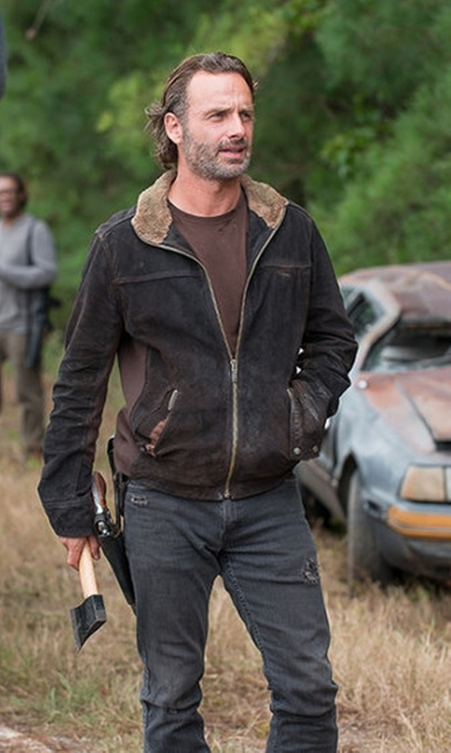 Andrew Lincoln with Levi's 511 Slim Fit Stretch Jeans in The Walking Dead