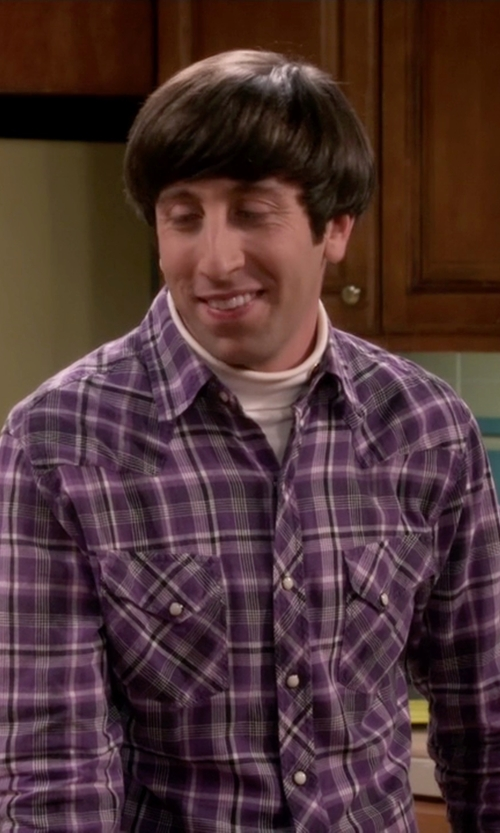 Simon Helberg with Tin Haul Plaid Snap Western Shirt in The Big Bang Theory
