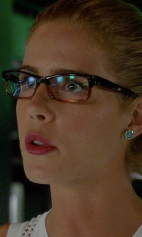 Emily Bett Rickards with Anthropologie Aludra Posts Earrings in Arrow