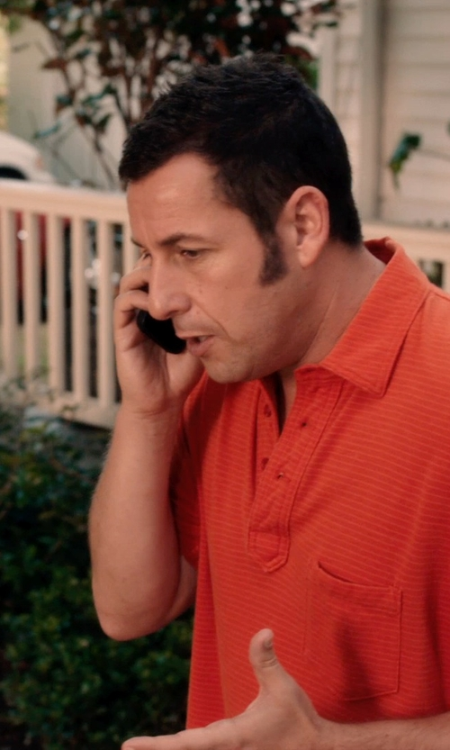 Adam Sandler with BOSS 'Fontana' | Regular Fit, Cotton Layered Placket Polo Shirt in Blended