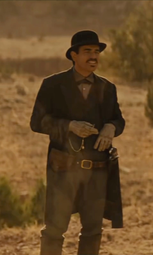 Ewan McGregor with Bloomingdale's Burnished Edge Buckle Leather Belt in Jane Got A Gun