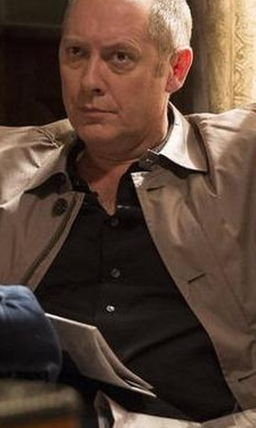 James Spader with Dolce & Gabbana Gold Fit Cotton Blend Shirt in The Blacklist