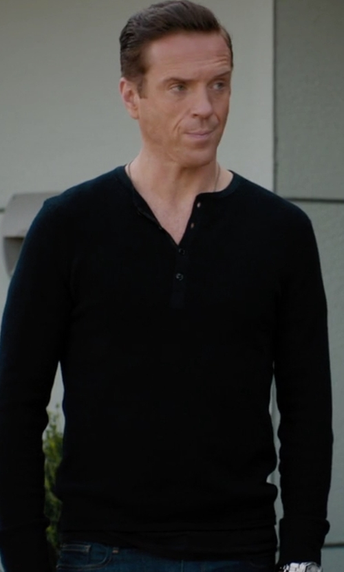 Damian Lewis with Rag & Bone  Gregory Henley Shirt in Billions