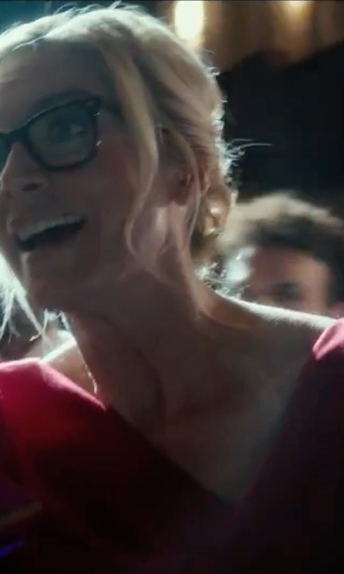 Elizabeth Mitchell with Black Halo Jackie Cowlneck Gabardine Sheath Dress in The Purge: Election Year