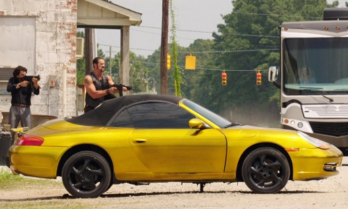 Unknown Actor with Porsche 911 Cabriolet in We're the Millers