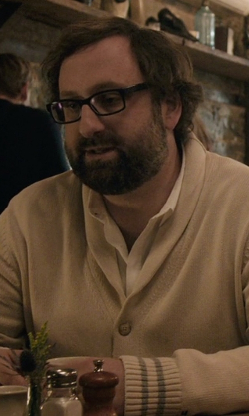 Eric Wareheim with Tommy Hilfiger That Way Shawl-Collar Cardigan in Master of None