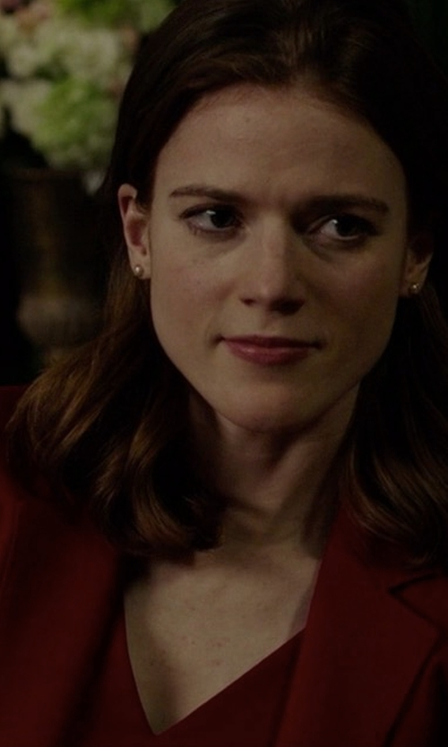 Rose Leslie with Max Mara Fabia Wool Jacket in The Good Fight