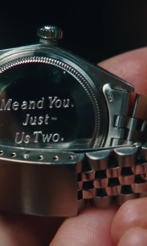 Chris Noth with Rolex 1968 Rolex Black Dial DateJust Watch in Sex and the City 2