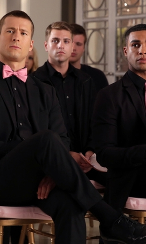 Glen Powell with Church's Classic Oxford Shoes in Scream Queens