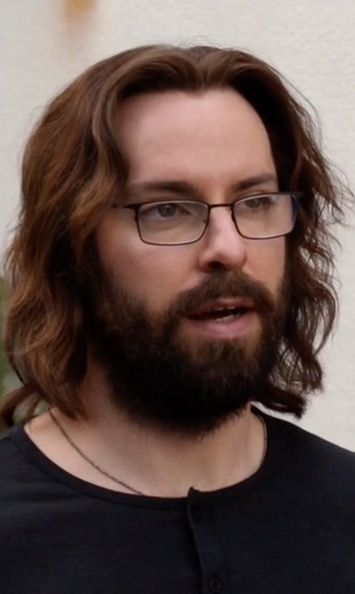 Martin Starr with John Varvatos V 147 Eyeglasses in Silicon Valley