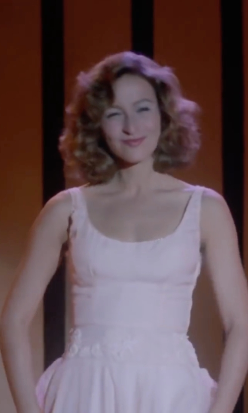 Jennifer Grey with Halston Heritage  Faille Tulip Dress in Dirty Dancing