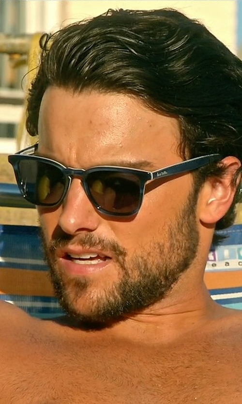 Jack Falahee with Paul Smith 'Shawbury' 50mm Retro Sunglasses in How To Get Away With Murder