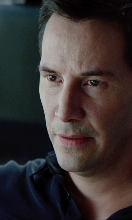Keanu Reeves with Giorgio Armani Classic Shirt in Man of Tai Chi