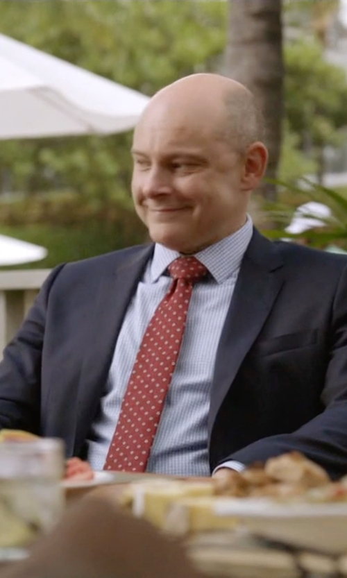 Rob Corddry with Hart Schaffner Marx 'New York' Classic Fit Wool Suit in Ballers