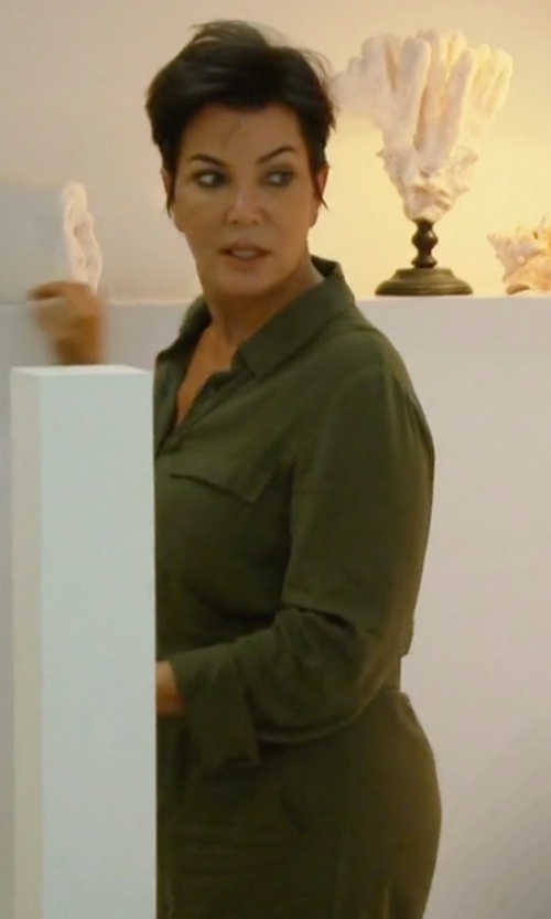 Kris Jenner with Nlst Officer Cotton-Twill Jumpsuit in Keeping Up With The Kardashians