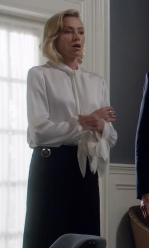Portia de Rossi with Theory Stretch Jersey Maxi Skirt in Scandal