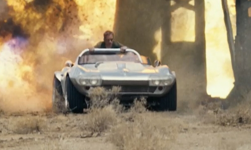 Vin Diesel with Chevrolet 1963 Corvette Grand Sport Coupe (Replica) in Fast Five