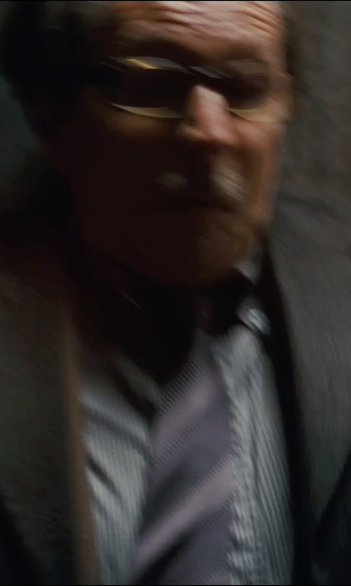 Gary Oldman with Marc Anthony Slim-Fit Tonal-Striped Easy-Care Spread-Collar Dress Shirt in The Dark Knight Rises