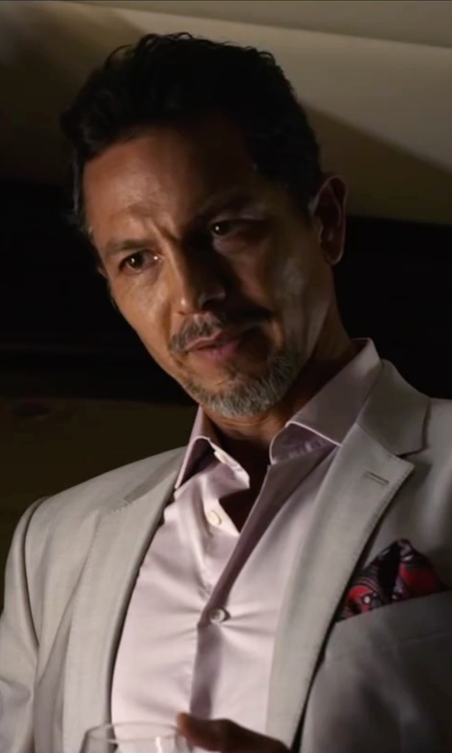 Benjamin Bratt with J.Z. Richards Silk Pocket Square in Ride Along 2
