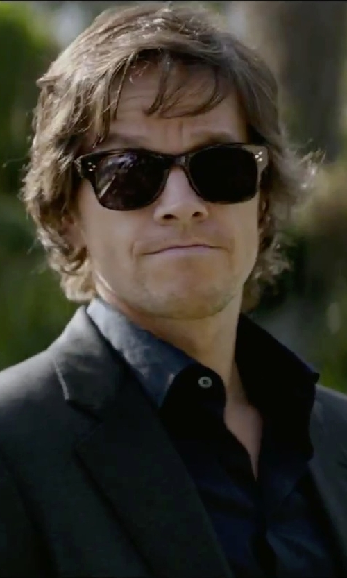 Mark Wahlberg with Oliver Peoples Jannsson Square Acetate Sunglasses in Brown Tortoise in The Gambler
