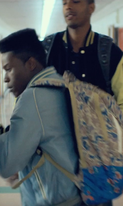Shameik Moore with Herschel Supply Co. Camouflage Village Backpack in Dope