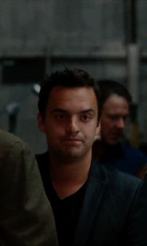 Jake Johnson with John Varvatos Collection Hook & Eye Sport Coat in No Strings Attached