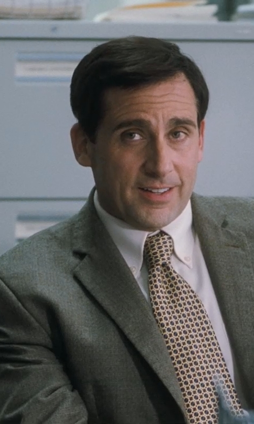 Steve Carell with Tommy Hilfiger Keene Two-Button Side-Vent Suit in Crazy, Stupid, Love.