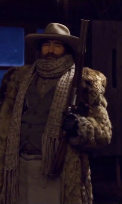 Demian Bichir with Gaspar Gloves Custom Made 'Bob' Leather Gloves in The Hateful Eight