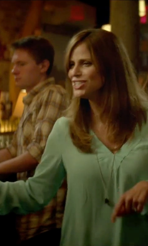Andrea Savage with Amanda Uprichard Simon Blouse in Sleeping with Other People