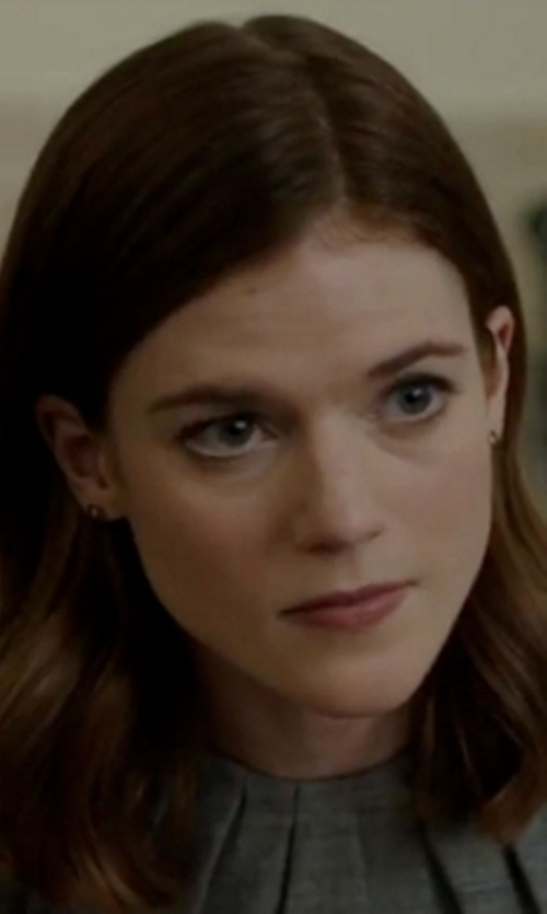 Rose Leslie with Karen Millen Tailored Dress in The Good Fight