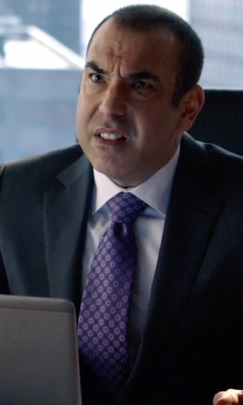 Rick Hoffman with Canali Woven Tie in Suits