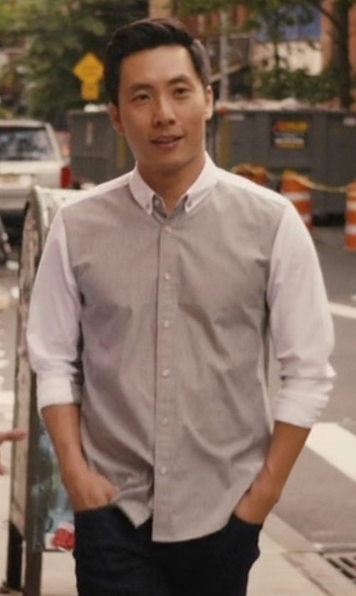 Kelvin Yu with Rag & Bone Yokohama Shirt in Master of None