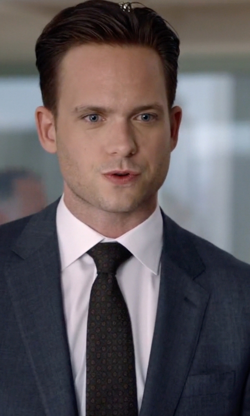 Patrick J. Adams with Brioni	 Twill French-Cuff Trim-Fit Shirt in Suits