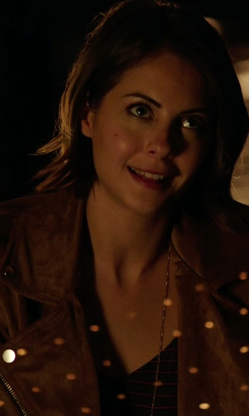 Willa Holland with Aritzia Talula Morton Jacket in Arrow