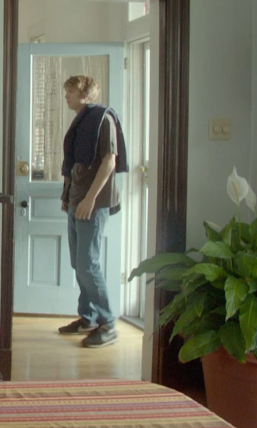 Thomas Mann with M.Grifoni Denim Pants in Me and Earl and the Dying Girl