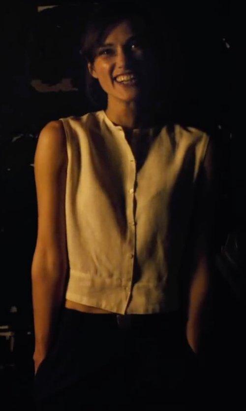 Keira Knightley with Jil Sander Deep-Cuff Cropped Trousers in Begin Again