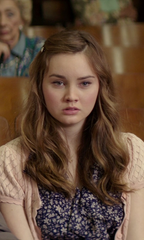 Liana Liberato with Liz Claiborne New York Hand Crochet Short Sleeve Shrug in The Best of Me