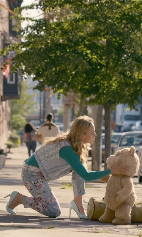 Jessica Barth with Topshop Raw Edge Denim Vest in Ted 2