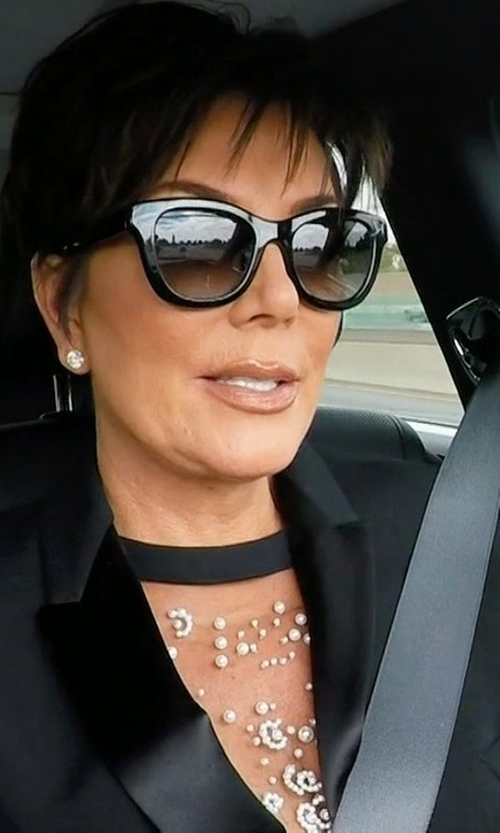 Kris Jenner with Karen Walker Deep Freeze Sunglasses in Keeping Up With The Kardashians