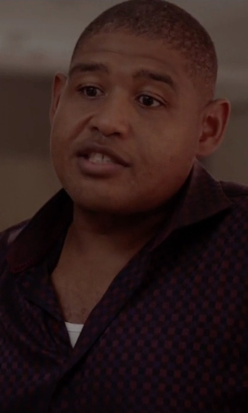 Omar Benson Miller with Michael Kors Men's Checked Long-Sleeve Shirt in Ballers