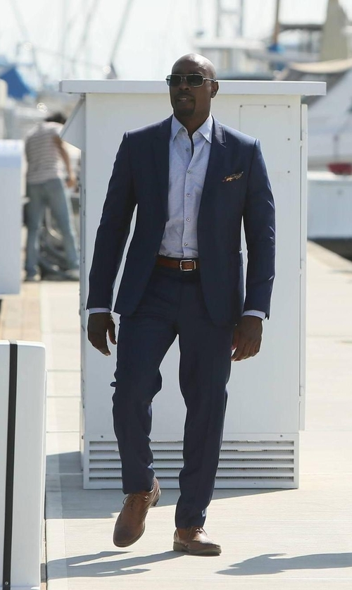 Morris Chestnut with Oliver Sweeney Addington Oxford Shoes in Rosewood