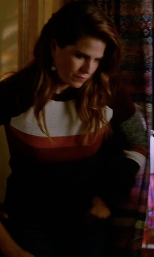 Karla Souza with Isabel Marant Etoile Doyle Zermatt Sweater in How To Get Away With Murder