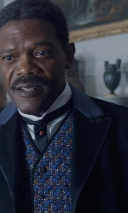 Samuel L. Jackson with Dsquared2 Double Breasted Two-Piece Suit in The Legend of Tarzan