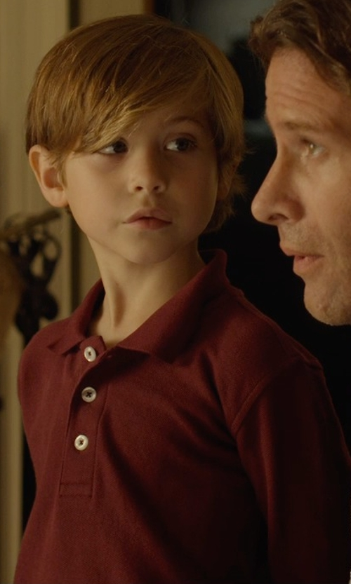 Jacob Tremblay with French Toast Long-Sleeve Polo Shirt in Before I Wake