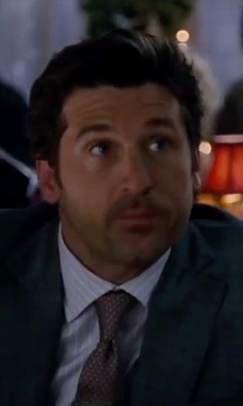 Patrick Dempsey with Armani Collezioni Dot Silk Tie in Valentine's Day