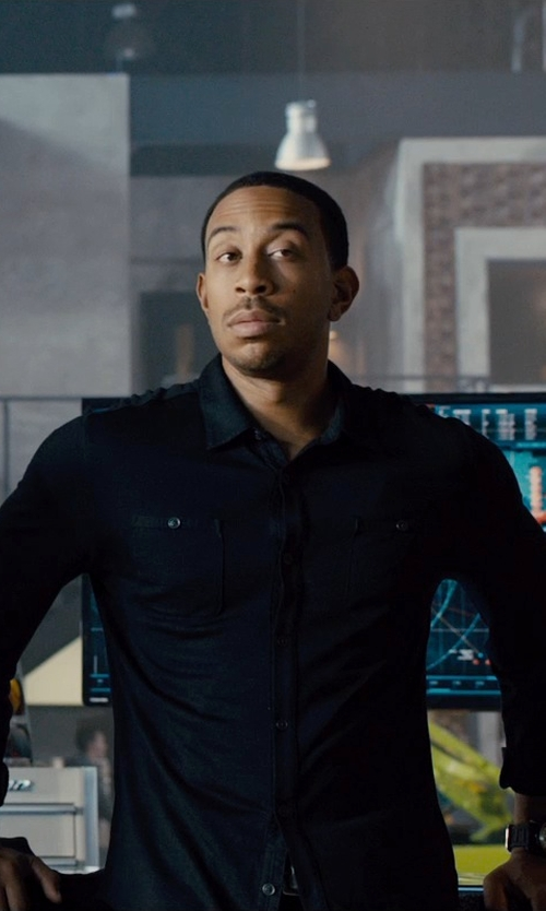 Ludacris with Salvatore Ferragamo	 Rubber-Strap Chronograph Watch in Furious 7