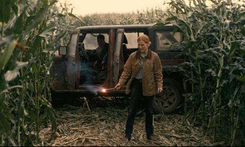 Jessica Chastain with Jeep Wrangler Unlimited Altitude in Interstellar