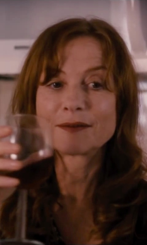 Isabelle Huppert with Orrefors Balans Wine Glass in The Disappearance of Eleanor Rigby