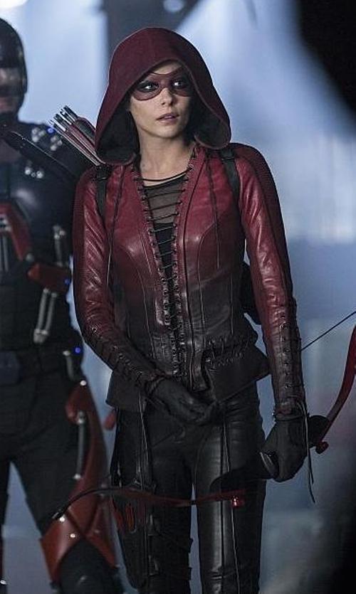 Willa Holland with Maya Mani (Costume Designer) Custom Made 'Speedy' Costume in The Flash