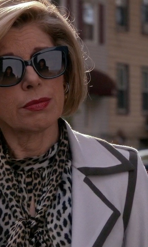 Christine Baranski with Max Mara Double Wool Coat With Contrast Trim in The Good Wife